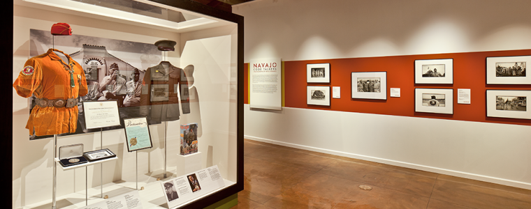 "Gallery view of the exhibit ""Native Words, Native Warriors and Navajo Code Talkers: Photographs by Kenji Kawano"""