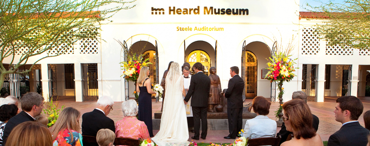 Wedding in the Heard Museum Plaza