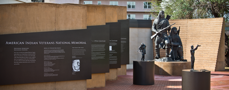 The American Indian Veterans National Memorial at the Heard Museum in Phoenix, Arizona