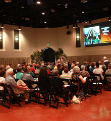 A recent Heard Museum Guild membership meeting, held in the museum's Steele Auditorium.