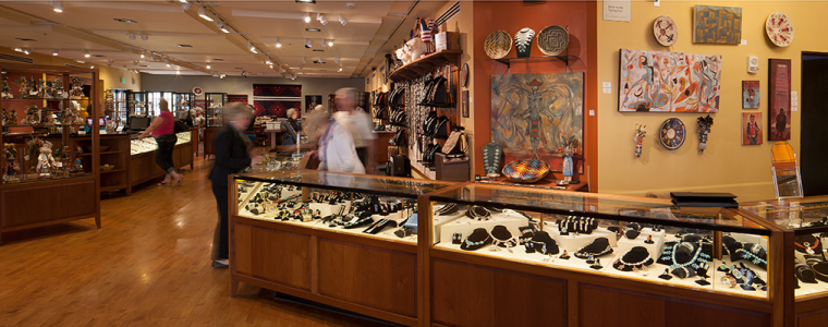Panoramic shot of the Heard Museum Shop