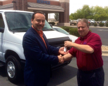 JPH Accepting Van from Tony Friedley