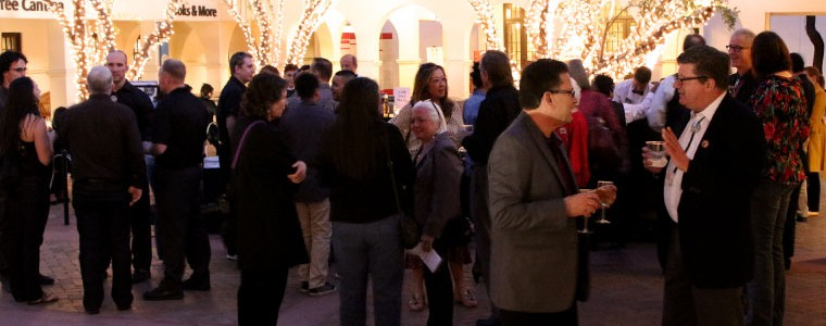 Photograph of guests in the Central Courtyard