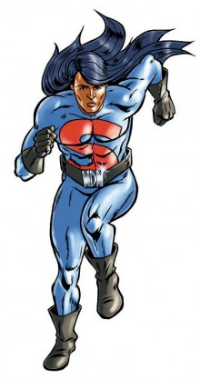 Illustration of Super Indian by Arigon Starr