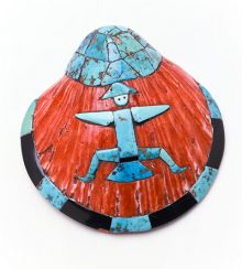 Pendant, Zuni Pueblo. Fred Harvey Fine Arts Collection, Heard Museum, 1399CI.