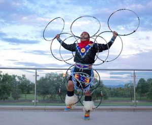 Kevin Duncan, Hoop Dance performer with Yellow House Dancers