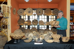 Basket expert Terry Dewald at the 2015 Indian Fair and Market