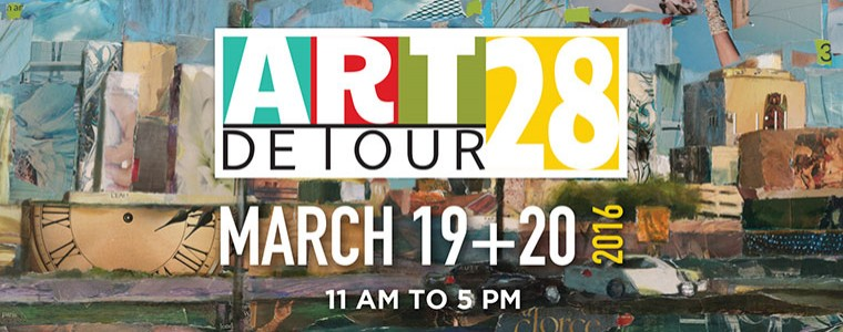 Art Detour 28: March 19 and 20, 2016 from 11 am to 5 pm