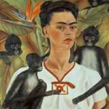 Frida Kahlo Self-Portrait with Monkeys
