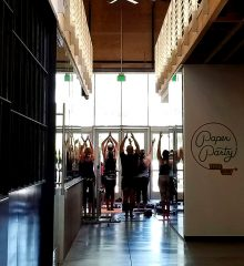 class photo from Rooted Community Yoga Project