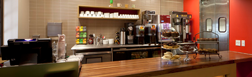 Photograph of inside the Coffee Cantina