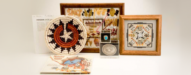 Some of the contents of the Navajo traveling suitcase.