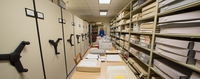 Archives containing special documents needed for research.