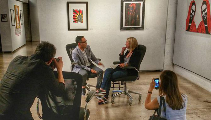 Hannah Vandeventer interviews Gennaro Garcia at monOrchid Gallery in Phoenix, AZ, September 19, 2015