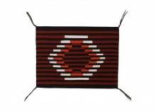 Michael Paul Teller Ornelas (Navajo/Mexican), weaving in Ganado Red Contemporary style.