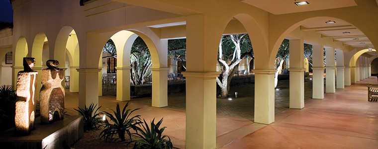 Heard Museum Central Courtyard at night. Photo by Craig Smith