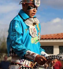 Tyrese Jensen (Navajo/Maricopa) of Dilkon, AZ, was the 2017 adult champion at the Heard Museum World Championship Hoop Dance Contest in Phoenix
