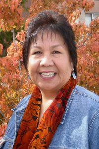 Artist, T.C. Cannon classmate at IAIA and now faculty, Linda Lomahaftewa (Hopi/Choctaw)