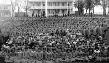 Photo of students at Carlisle Indian School circa 1900