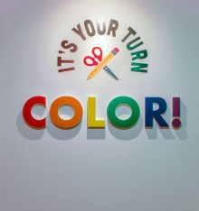 Title wall with words It's Your Turn Color!