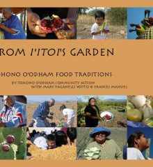 book cover of various pictures showing Tohono O'odham people with native foods