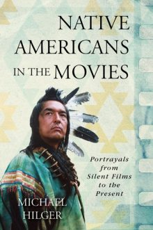 Book jacket of Native Americans in the Movies showing Graham Greene in Native dress