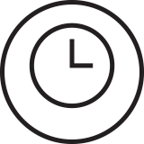 icon graphic of wall clock